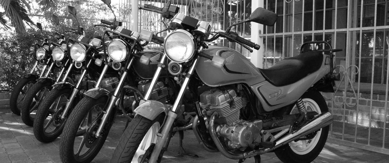 A photo of motorbikes taken by Alert Motorbike School